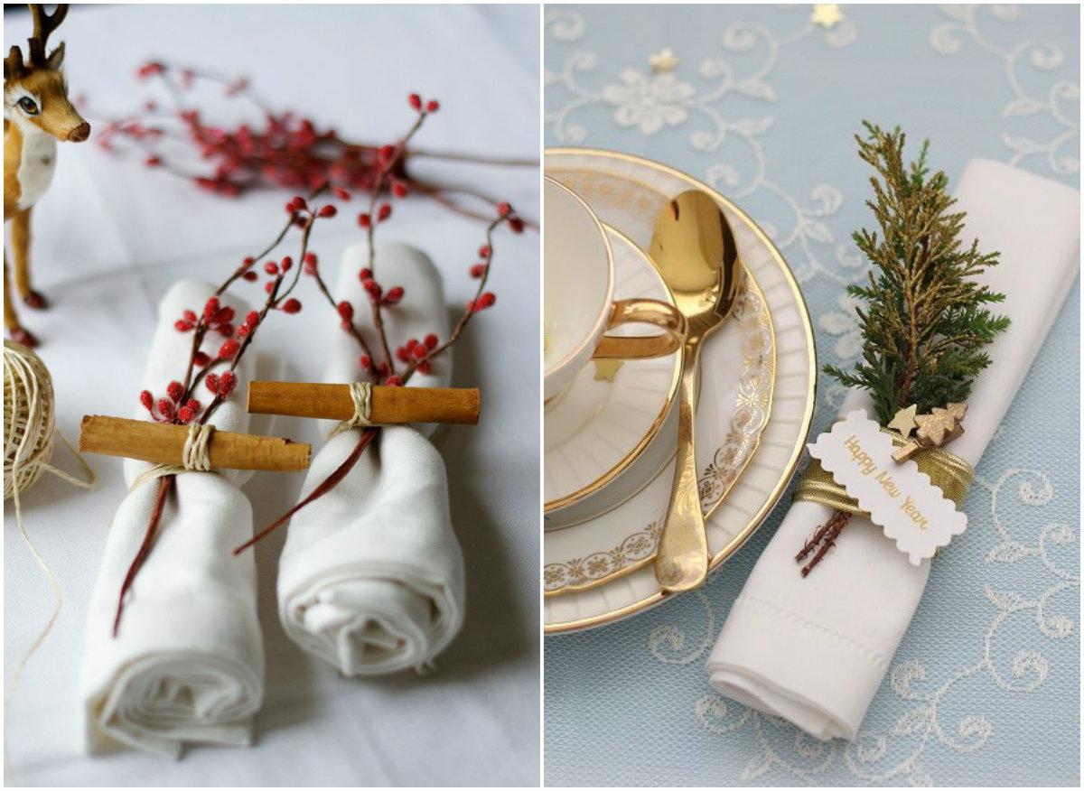 Льняные салфетки могут выполнять роль декора на столе