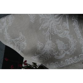 Полотенце льняное жаккардовое 50 x 70 см натурального цвета (4 шт) Ju-Lein 7.