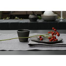 Дорожка жаккардовая льняная атласного переплетения 50 x 170 см темно-серая Ju-Lein 25.