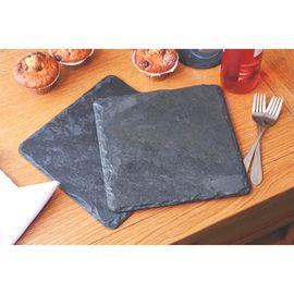 Набор квадратных подставок из натурального камня 25х25 см Platter Slate SETF2